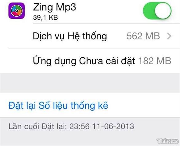 Quản lý dung lượng 3G trên iOS