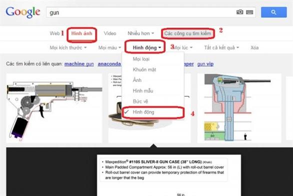 Cách tìm ảnh động GIF trên Google
