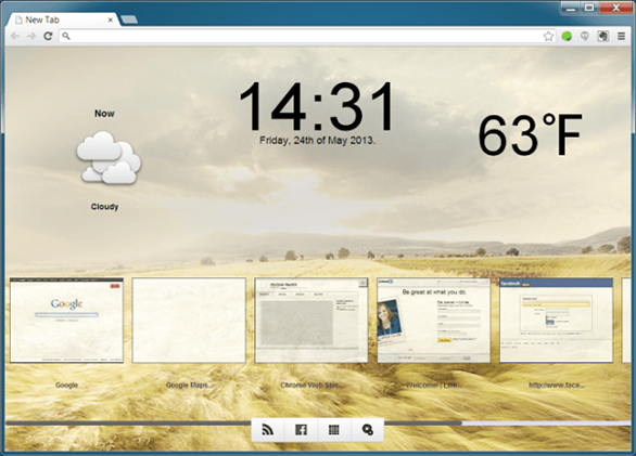 trang hoàng cho New Tab Chrome