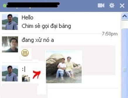 Dùng avatar làm icon chat trên Facebook