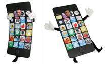 Hóa trang thành iPhone 6 bị bẻ cong chơi lễ Halloween