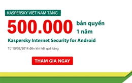 Kaspersky Lab Việt Nam tặng 500.000 bản quyền KIS for Android