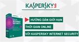 Video cách giới hạn thời gian online với Kaspersky Internet Security 2015