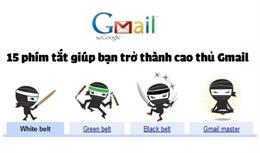 Danh sách 15 phím tắt giúp thao tác nhanh trên Gmail