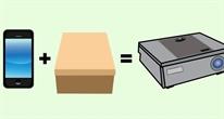 Tự làm máy chiếu từ smartphone và hộp giày cũ
