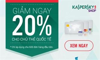 Giảm ngay 20% khi thanh toán trực tuyến bằng thẻ VISA/MASTER/JCB