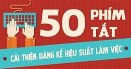 50 Phím tắt giúp cải thiện đáng kể hiệu suất làm việc