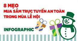 Infographic 8 mẹo mua sắm trực tuyến an toàn trong mùa lễ hội