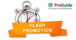 Flash Promotion: Mua phần mềm Kaspersky, thêm khuyến mãi bất ngờ