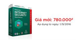 Thông báo giá bán mới của Kaspersky Internet Security Multi-Device (KIS MD)