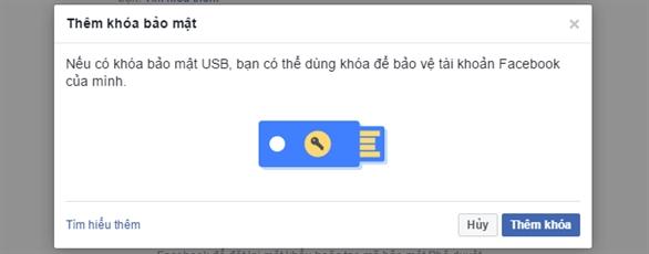 Đã có thể dùng USB bảo mật đăng nhập Facebook