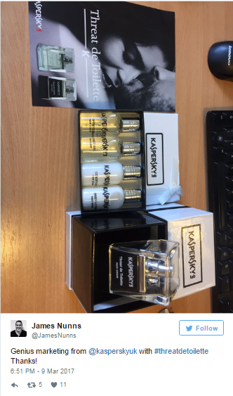 Kaspersky Lab ra dòng sản phẩm … nước hoa mới?