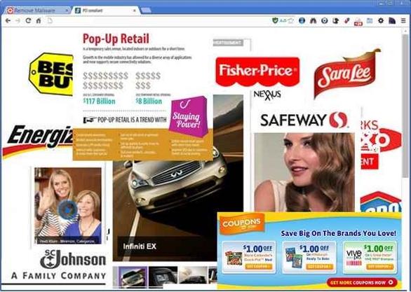 Nếu nhìn thấy quảng cáo này xuất hiện khi lướt web, máy tính đã nhiễm virus?