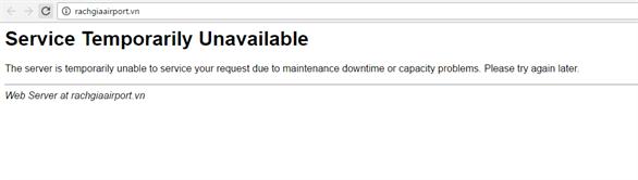 Website sân bay Tân Sơn Nhất và Rạch Giá bị hack