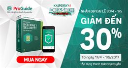 Giảm đến 30% khi mua Kaspersky Internet Security for Android tại Kaspersky Proguide