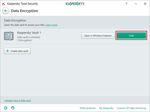 Cách mã hóa dữ liệu quan trọng trong Kaspersky Total Security 2017