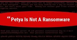 ExPetr/Petya/NotPetya/Petrwrap không phải mã độc tống tiền?