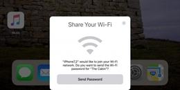 iOS 11 giúp chia sẻ Wi-Fi nhanh chóng không cần nhập mật khẩu