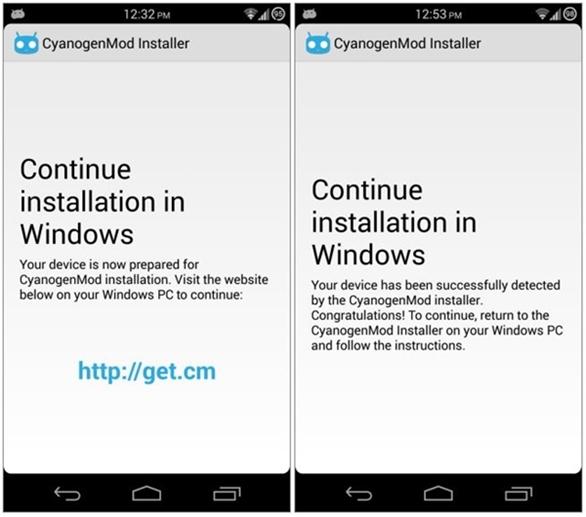 Cách cài đặt CM ROM thông qua CyanogenMod Installer
