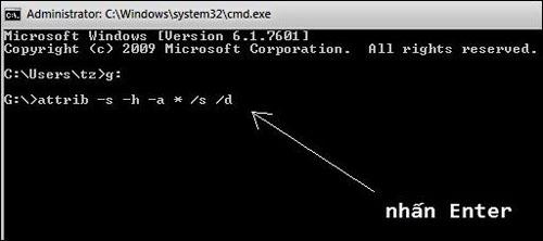 Cách hiện file ẩn trong USB khi bị Virus tấn công!