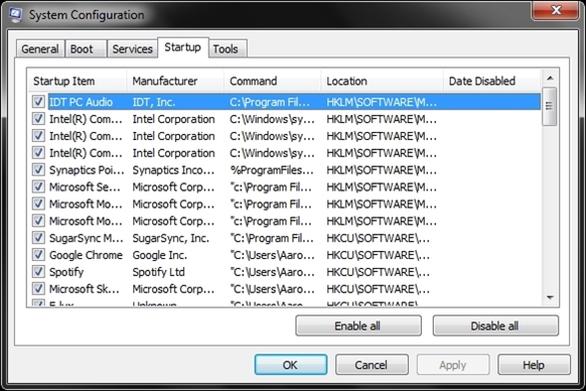 10 Dịch vụ và ứng dụng an toàn nên tắt bỏ khi khởi động Windows