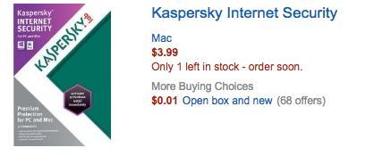 Các trường hợp lừa đảo khi mua phần mềm Kaspersky trên mạng