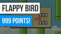 Video clip khi đạt 999 điểm trong Flappy Bird