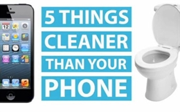 Video 5 vật bẩn nhưng còn sạch hơn điện thoại
