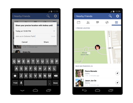 Facebook thêm tính năng định vị vị trí bạn bè