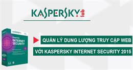 Cách tiết kiệm cước 3G, cước phí internet với Kaspersky Internet Security 2015