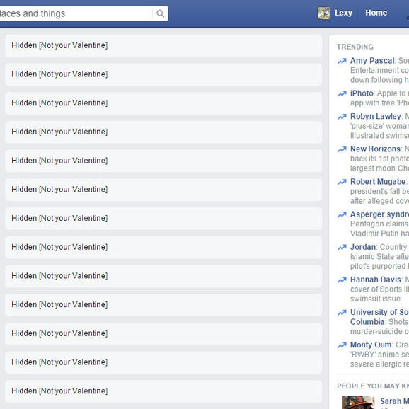 Cách chặn ngày Valentine - Lễ Tình Nhân trên Facebook