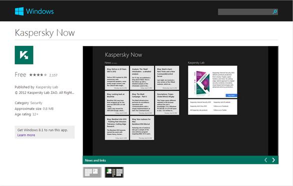 Cách cài đặt Kaspersky Now trên máy tính Windows 8