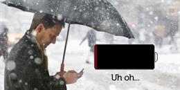 Nếu trời quá lạnh, iPhone có thể bị sập nguồn hoặc mau hết pin?