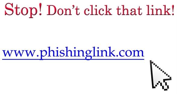 Không click vào link lạ