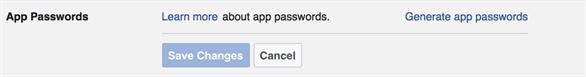 Tính năng App Passwords (Mật khẩu Ứng dụng) của Facebook