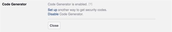 Tính năng Code Generator (Trình tạo mã) của Facebook