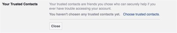 Tính năng Your Trusted Contacts (Liên hệ tin cậy của bạn) của Facebook