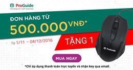 Tặng 1,000 phần quà cho đơn hàng trực tuyến từ 500,000 đồng trên Kaspersky Proguide