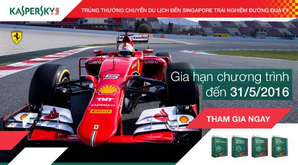Cùng Kaspersky đến Singapore trải nghiệm đường đua tốc độ F1 lừng danh thế giới