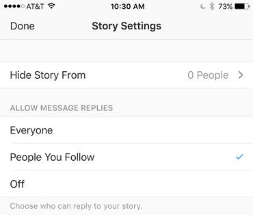 Giấu Stories khỏi ai đó