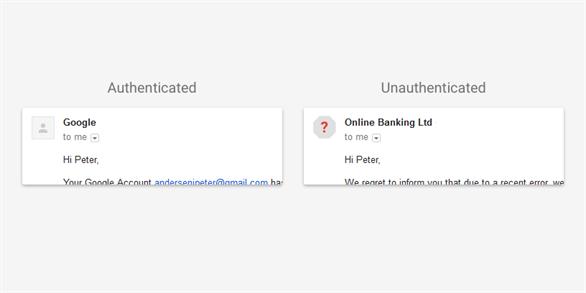Email bình thường và email có dấu hiệu lừa đảo
