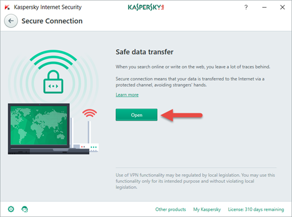 Kaspersky Secure connection