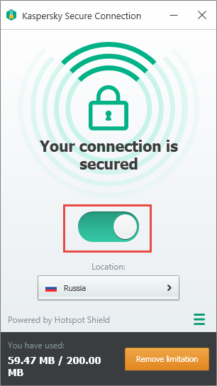 Kaspersky Secure connection 2