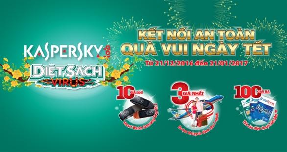 """Danh sách khách hàng trúng thưởng chương trình khuyến mãi """"Kaspersky- Kết nối an toàn, quà vui ngày tết"""""""