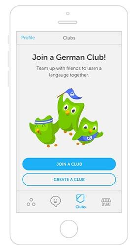 Rủ rê bạn bè cùng học ngoại ngữ với Duolingo Clubs