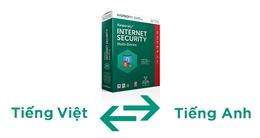 Hướng dẫn chuyển giao diện phần mềm Kaspersky từ Việt sang Anh
