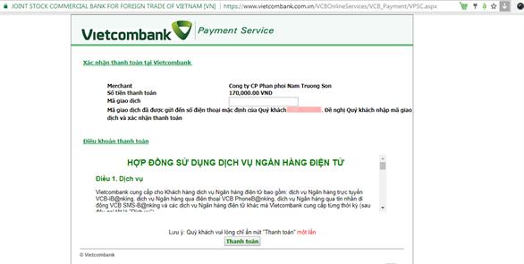 Hướng dẫn thanh toán mua key Kaspersky online qua thẻ ATM có Internet Banking tại Kaspersky Proguide