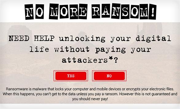 No More Ransom: Giúp giải mã hơn 15 mã độc tống tiền miễn phí