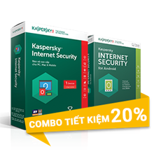 Combo 1 : Kaspersky Internet Security 1PC/Năm và Kaspersky Internet Security for Android - 1 PC + 1 Mobile /Năm