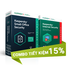 Combo 3: Kaspersky Small Office Security 10 và Kaspersky Internet Security 5U - 15 PCs + 10 Mobile + 1 Server